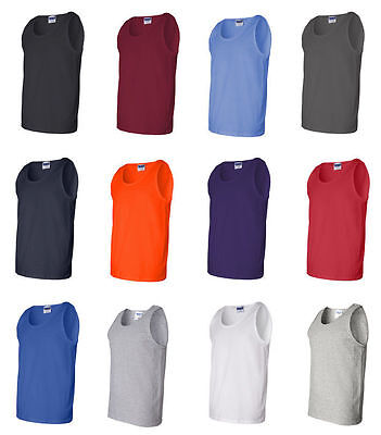 GILDAN Mens NEW Size S-XL 2XL Ultra Cotton Tank Top Muscle Sports T-Shirt g2200