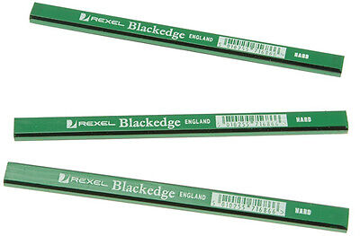 REXEL BLACKEDGE GREEN (HARD) CARPENTERS - JOINERS PENCIL - Pack of 12 Pencils