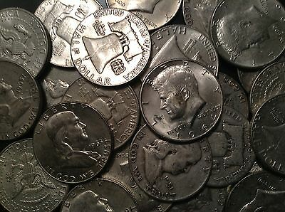 1/2 LB BAG 8 OZ Mixed Halves US 90%  Silver Coins Junk Silver Coins Pre 65 ONE 1
