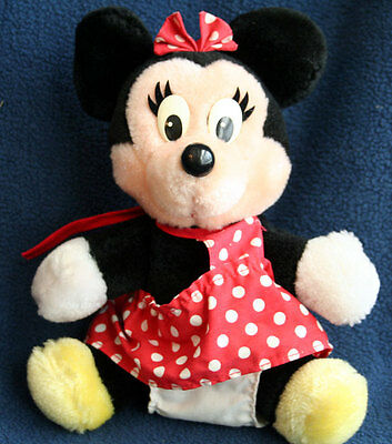 Vintage Disneyland Walt Disney World Minnie Mouse Plush Stuffed Animal Doll