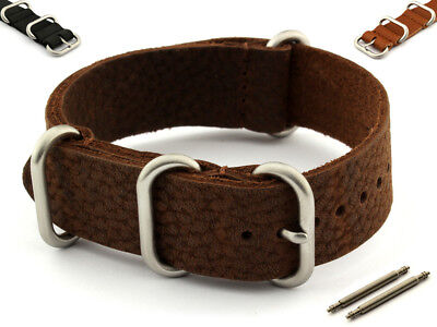 NATO Watch Strap VINTAGE Genuine Leather (3/4 rings) - MV