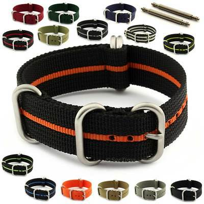 NATO G10 Military Watch Strap Band Strong Heavy Duty Nylon Divers Brushed Buckle