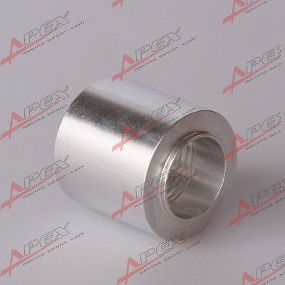 "1/8"" NPT Female Aluminum Weld on Bung Fitting Sensor Adapter Round"