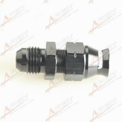 "AN-6 6AN AN6 Straight Male To 5/16"" (8mm) Tube Adapter Black"