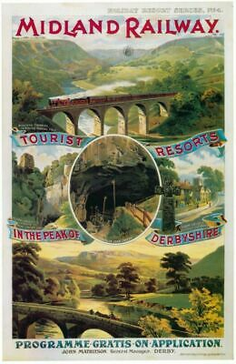 BROADLANDS...Midland /& Great Northern ..Vintage Railway Poster A1,A2,A3,A4 Sizes