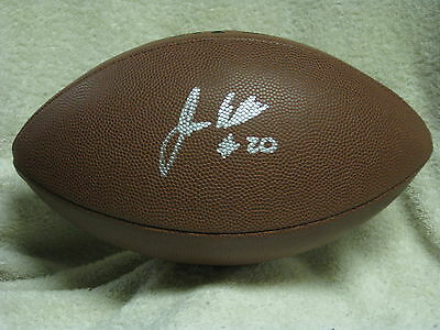 James White Signed Football Wisconsin Badgers New England Patriots COA