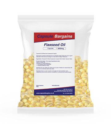 Tablet Bargains -- Flaxseed Oil 1000mg - 100 Capsules