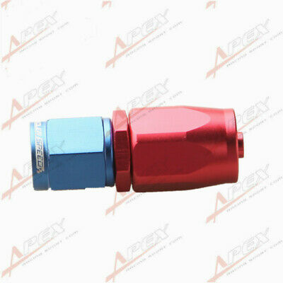 AN-4 AN4 4AN Straight Swivel Oil Fuel Line Hose End Fitting Adapter Red/Blue