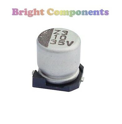 10 x 1uF SMD/SMT Electrolytic Capacitor - 50V (max) - UK - 1st CLASS POST