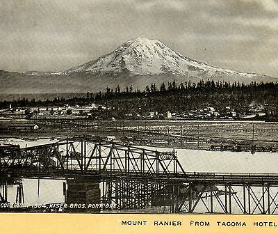 © 1904 Mount Rainier from Tacoma Hotel Singer Sewing photo view Advertising Card