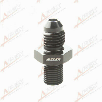 Male 4AN AN4 Flare To M10 x 1.0 ( mm ) Metric Straight Fitting Black