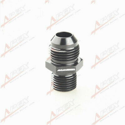 Male 8AN AN8 Flare To M16 x 1.5 ( mm ) Metric Straight Fitting Black