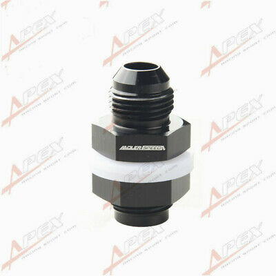AN-8 8AN AN8 Fuel Cell Tank Adapter Bulkhead Fitting Black