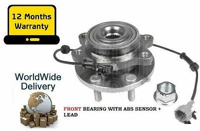 For Nissan Navara D40 2.5Td 2005> Front Wheel Bearing Hub Assembly Kit With Abs