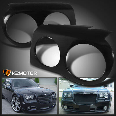 2005-2010 Chrysler 300C Headlight Covers Bezel Eyelids Left+Right