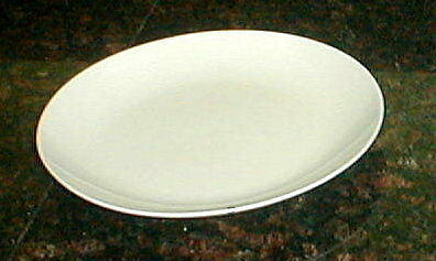 FITZ & FLOYD GOURMET WHITE COUPED SALAD PLATE