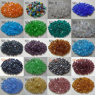 Wholesale!200pcs-1000pcs 4 mm bicone crystal bead spacer, a variety of colors
