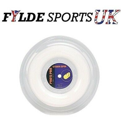 Pro's Pro Cyber Spin 1.30mm 200m Tennis String Reel - White - CLEARANCE
