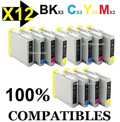 *** 12 Cartouches-ink encre compatible Brother LC970 LC 970 / LC1000 LC 1000 ***