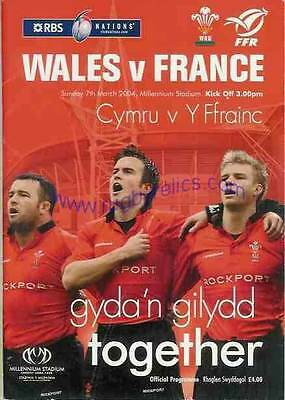 WALES v FRANCE 2004 RUGBY PROGRAMME 7 Mar at CARDIFF