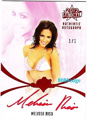 2012 Benchwarmer National Auto: Melissa Riso #1/1 Of One Red Autograph Playboy