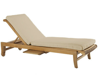 Steamer Chaise Sun Garden Lounger Teak Outdoor Patio Furniture Giva Collection