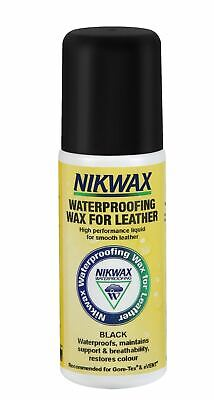 Nikwax Waterproofing Wax for Leather Liquid Shoes Clothing Black 125ml