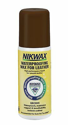 Nikwax Waterproofing Wax for Leather Liquid Shoes Clothing Brown 125ml
