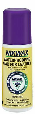 Nikwax Waterproofing Wax for Leather Liquid Shoes Clothing Neutral 125ml