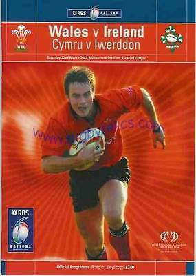 WALES v IRELAND 2003 RUGBY PROGRAMME 22 Mar at CARDIFF