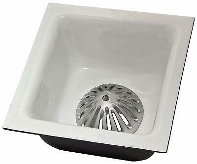 "ACE Floor Sink 12""x12""x6"", 3"" Drain with Alminum Dome Strainer FS-1263"