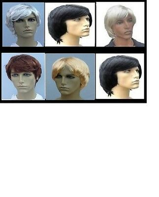 Mens Fancy Dress Wig, Pop Star, Boy Band, Stag Party - Choose your colour!!
