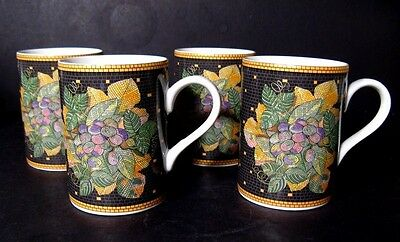 Sasaki Ravenna Charcoal Set Of Four (4) Mugs