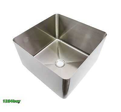"""ACE 16Ga Stainless Steel 1-7/8""""Center Drain Sink Bowl 12""""Wx12""""Lx10""""H  SB-121210"""