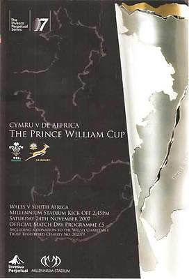 WALES v SOUTH AFRICA 2007 RUGBY PROGRAMME 24 Nov at CARDIFF