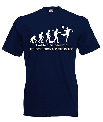 Fun T-Shirt - Evolution Handball - Fruit Of The Loom - In 11 Farben
