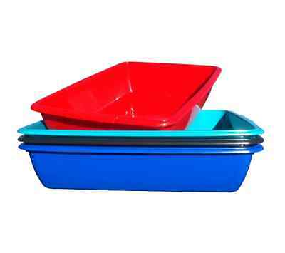 Plastic Cat Dog Pet Litter Tray Silver / Red / Teal / Blue Colour Tidy Storage