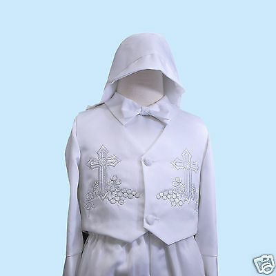 New Baby Boy Christening Baptism Special Gown Outfit size XS S M L XL White