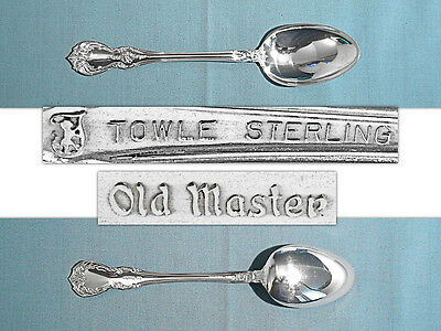 Towle Sterling Dessert / Oval Soup Spoon ~ Old Master ~ No Mono