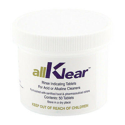allKlear Draft Line Cleaning Rinse Additive - Kegerator Beer & Air Hose Tablets