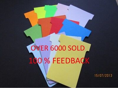 T Cards Size 2 T Card Job Cards Cardplan Nobo Qty 100 Free P&P 15 Colours  £2.95