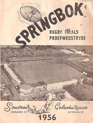 SOUTH AFRICA RUGBY INTERNATIONAL TRIAL PROGRAMME 7 Apr 1956 at Newlands