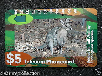 Telecom Phonecard $5 Used Wallaby