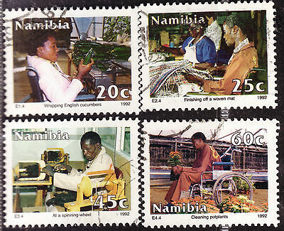 NAMIBIA 1992 DISABLED WORKERS COMPLETE POSTALLY USED SET #BoB680