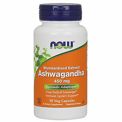 "Now Foods Ashwagandha 450mg x90Vcaps for Adrenal Fatigue - ""Withania Somnifera"""