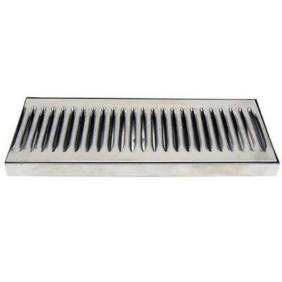 "12"" Countertop Drip Tray - Stainless Steel - Catches Draft Beer Spills & Leaks!"
