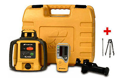 New Topcon RL-H4C Rotating Laser Level - DB Package PLUS 8 FT 8ths Rod & Tripod
