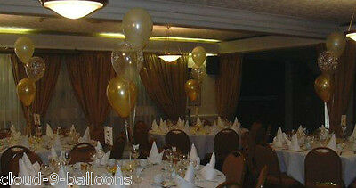 Just Married Hearts Wedding Helium Balloon Cluster DIY Kit - Choice of Colours