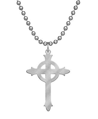 """Military Issue Pendant Presbyterian Cross Usa Made Jewelry With 24"""" Chain"""