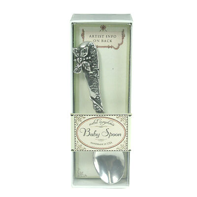 METAL MORPHOSIS PEWTER BABY SPOON (Butterfly Kisses), New in Retail Box